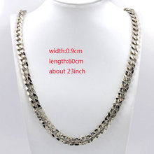 Stainless Steel Link Chain Long Necklace