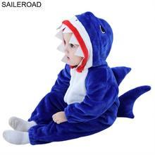 SAILEROAD/Пижама с акулой для малышей; Весенний спальный костюм для детей; зимнее детское одеяло; спальные халаты для малышей