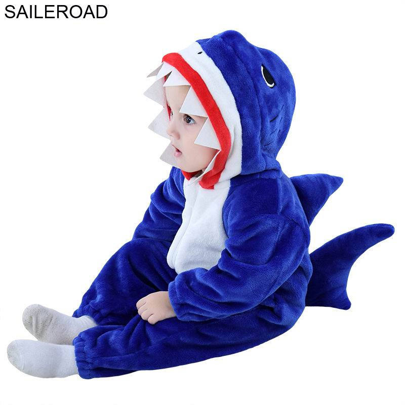 SAILEROAD Shark Pajamas For Babies Spring Sleeping Suit For Children Winter Baby Blanket Sleepers Baby Sleeping Robes Clothes