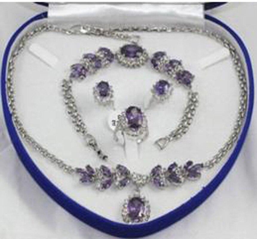 Новый свадебной моды Jewellery Для женщинs Цепочки и ожерелья браслет, серьги кольца больше цвета
