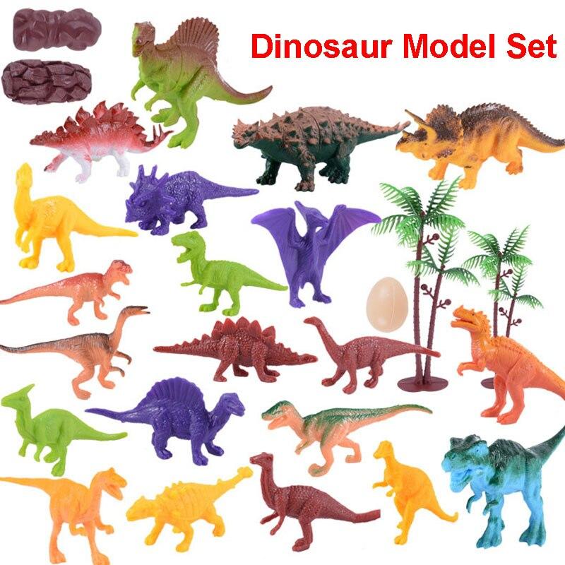 ZXZ 1 Set Original Dinosaur Action Figure Base Plastic PVC Toys Cute Mini Animals Figurine Figure Child Christmas Gifts 10pcs set original duplo dinosaur series
