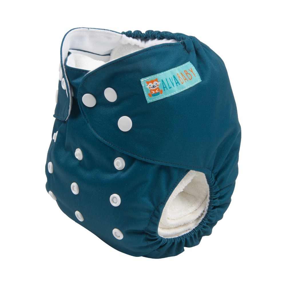 Baru! Alvababy Popok Kain Bayi Dapat Digunakan Kembali Polos Popok Kain dengan Microfiber Insert