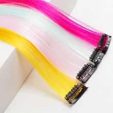 Color Synthetic Long Straight Hair Extensions