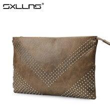 Brand Sxllns Men Cowhide Wallets Large Capacity Clutch Envelope Bags Mens Wallet Leather Genuine Men's Purses And Handbags