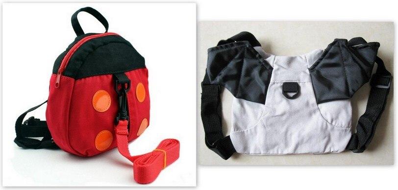 50 шт в наборе, приятель «божья коровка» и «летучая мышь» для маленьких накладной рюкзак с анти-потерянный ремень/Малыш Жгут - Цвет: ladybug and bat mixd