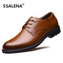 Business Formal Dress Shoes Men Soft Footwear Classic Oxford Leather Shoes Male Lace Up Pointed Toe Working Shoes AA10170