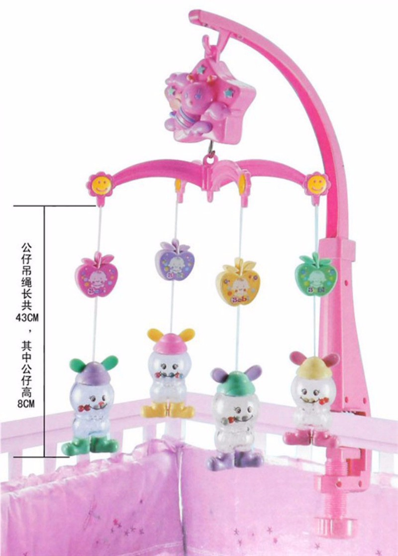 FREE SHIPPING Baby Toys for 0-12 Months Hand Bed Crib Musical Hanging Rotate Bell Ring Rattle Mobile WJ037 baby toy bed bell musical mobile crib bell dreamful bed ring hanging rotate bell rattle parent remote control educational toys