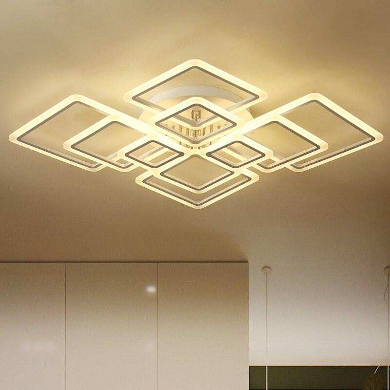 High end led Chandelier Lighting for Livingroom bedroom Square frame combination luxurious moderne Chandelier led light