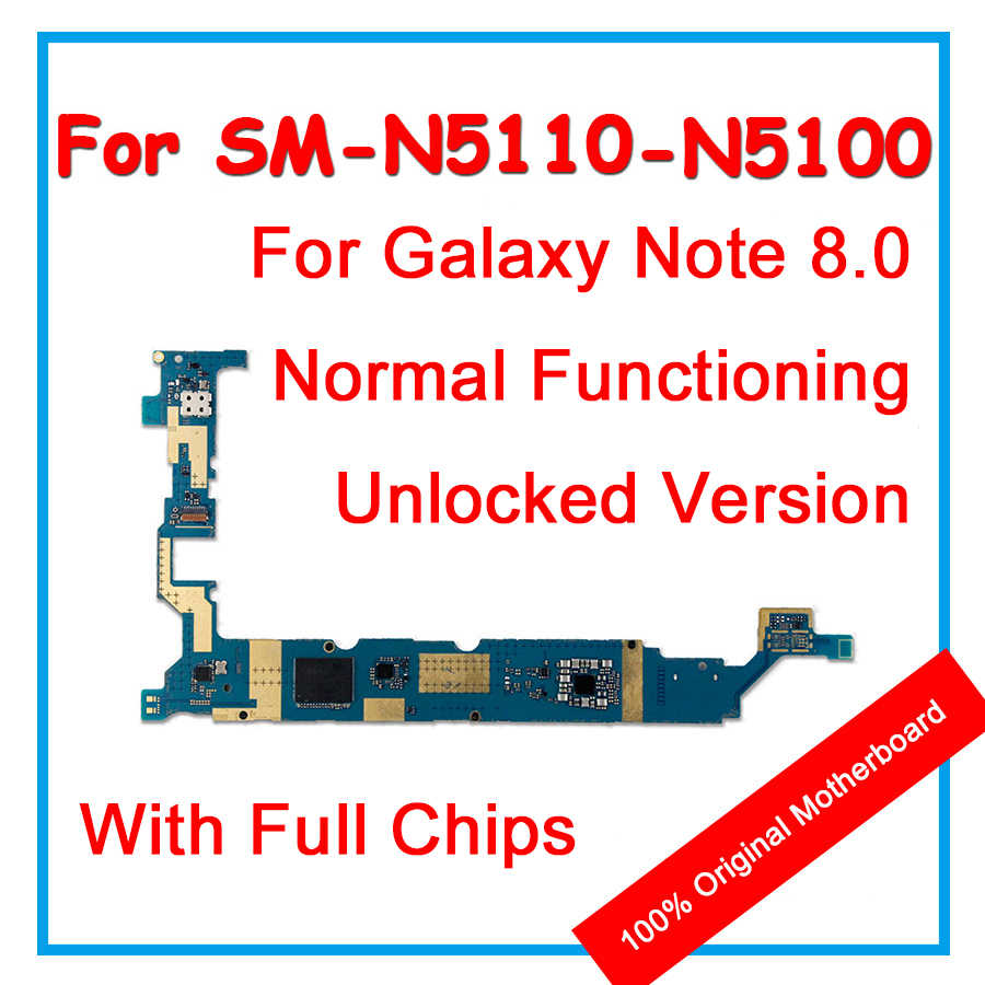 100% Asli Papan Utama 16GB Unlocked untuk Samsung GALAXY Catatan 8.0 N5100 N5110 Mainboard dengan Chip Logic Board Sistem Android