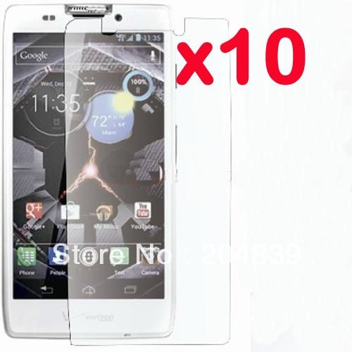 10X New CLEAR LCD Screen Protector Guard Cover Film For Motorola Droid RAZR HD XT925