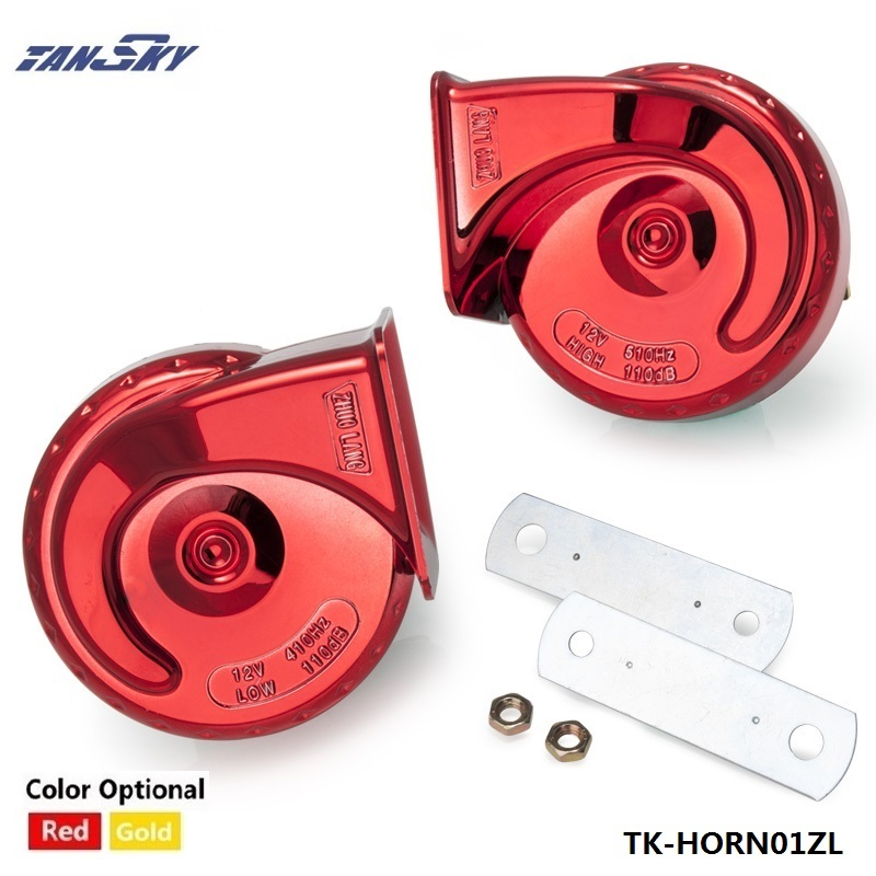 2pcs 12V Loud Car Auto Bike Truck Electric Vehicle Boat Snail Horn Sound Level 110dB For Ford Focus ZX3/ZX5/SVT TK-HORN01ZL
