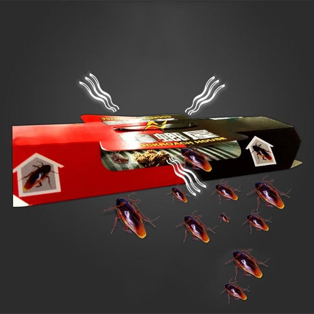 ZOCDOU 1 pieza cucaracha trampa casa asesino red para insectos y bichos cebo al pegamento Casa de Control de Plagas de cucarachas Escarabajo Negro