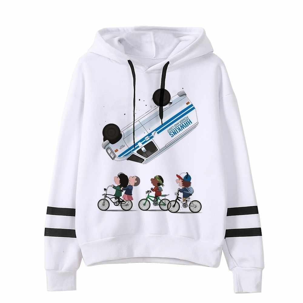 Fremden Dinge Hoodie Frau Mit Kapuze Hoodies Kpop Sweatshirts Kawaii Koreanische Übergroßen Harajuku Hip Hop Hoodie Sweatshirt Männer