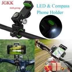 Komórkowy uchwyty do telefonów uniwersalny rowerowy eBike uchwyt na telefon do motocykla 360 obrotowy uchwyt do iphone XS GPS rowerowy z oświetleniem LED