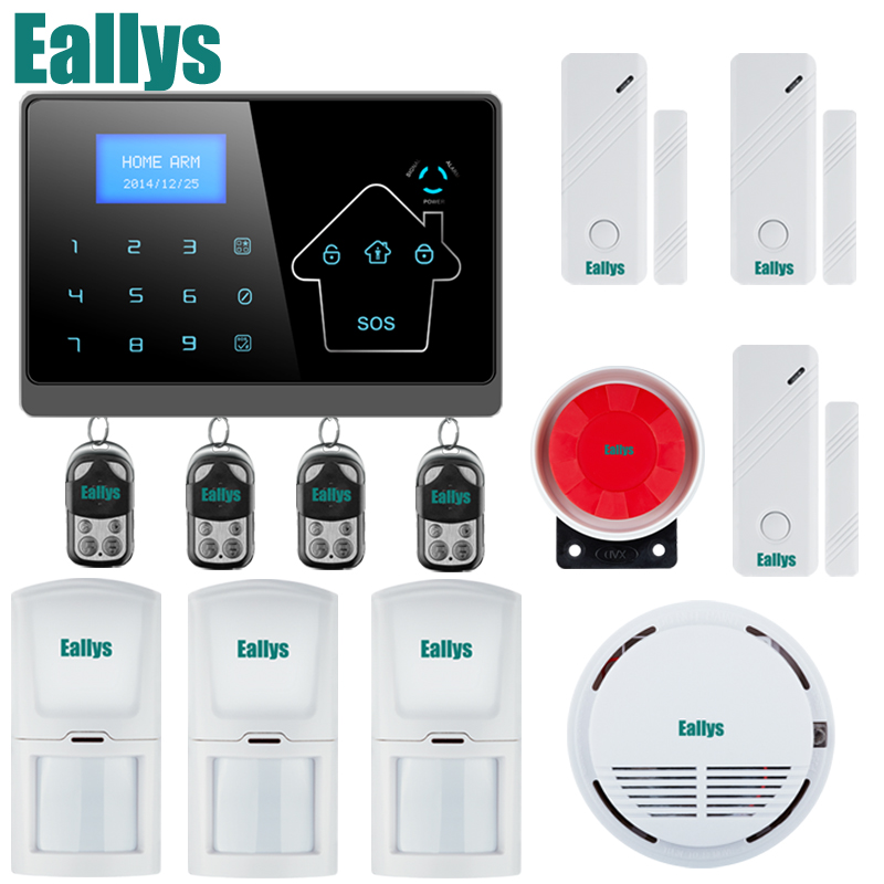 DHL Free Shipping!Support english/german/spanish/french/italian voice Home Security GSM Alarm System LCD Screen 4 Band gsm alarm system with multi language english german italian dutch menu for option home security 7 inch touch screen home alarm
