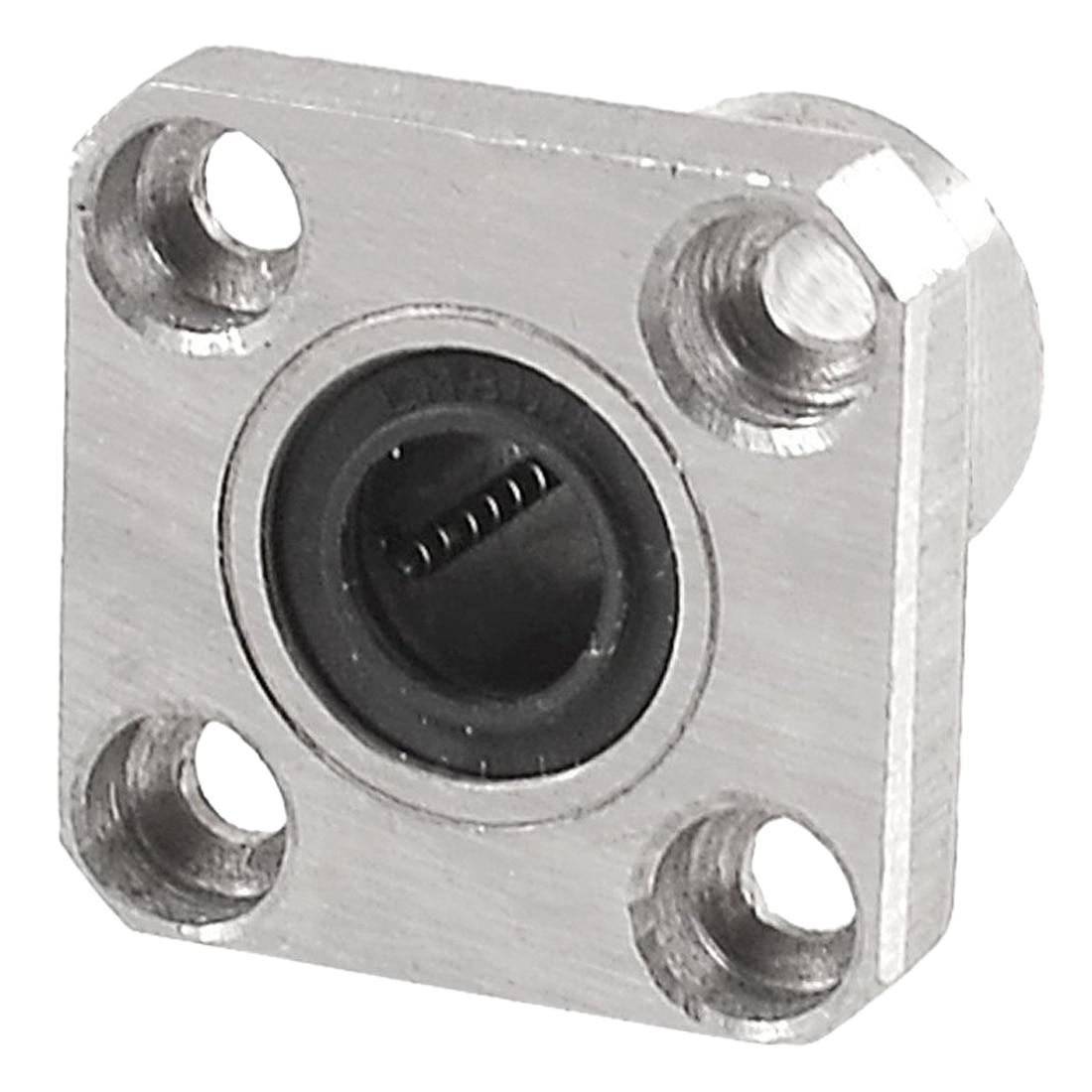 цена на JFBL 2X 8mm Inner Diameter Square Flange Linear Motion Bushing Ball Bearing LMK8UU
