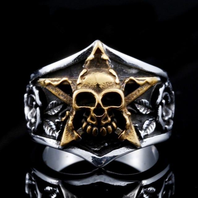 Men Stainless Steel Ring Vintage Hip Hop Skull Rings For Men Steampunk Jewelry Accessories 2019 Gothic Punk Rings Drop Shipping 5