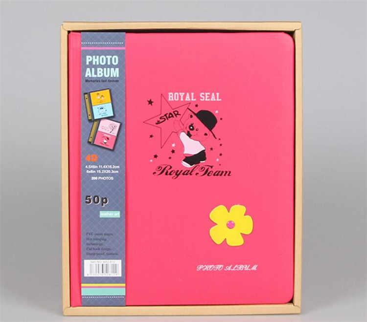 6 Inch 200 Sheets Interleaf Type Family Photo Album Scrapbook  Children Photo Album With Paper Cover Wedding Memory  Photo Album