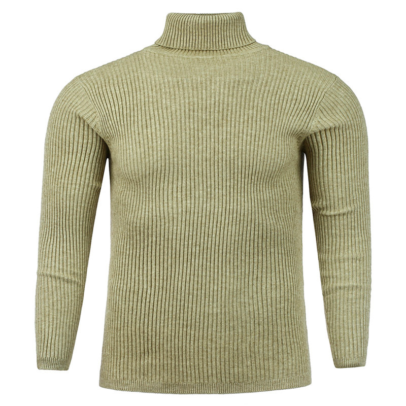 Autumn And Winter New Men's Turtleneck Sweater Pure Color Sweater