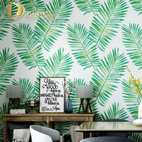 Modern PVC Waterproof Green Tropical Jungles Palm Tree Leaves Wall paper Roll Floral Forest Natural Plant Wallpaper For walls