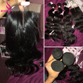 Ariel Hair Product Malaysian Virgin Hair With Closure 3Bundles Malaysian Body Wave 8A Virgin Unprocessed Human Hair With Closure