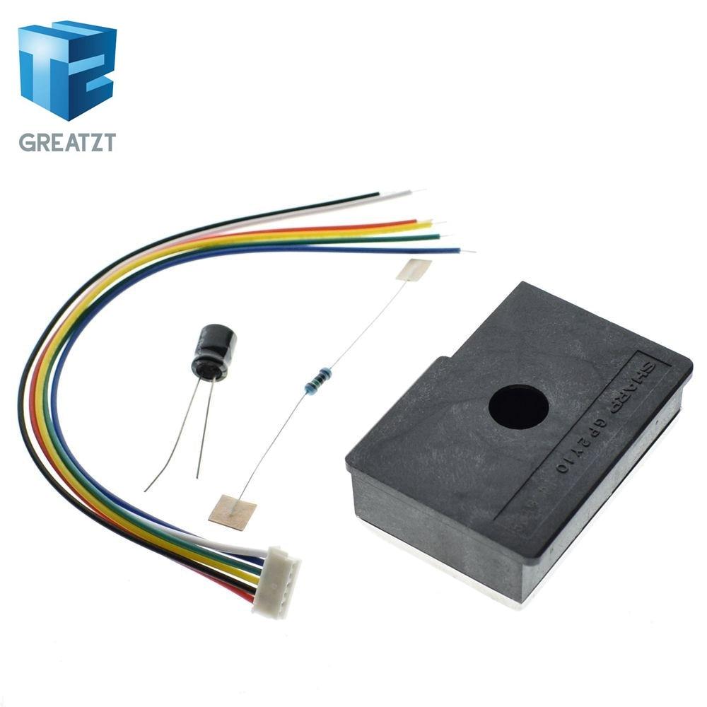 1 PCS GP2Y1014AU0F Capteur de poussi/ère Optique Compact Compatible GP2Y1010AU0F GP2Y1010AUOF Capteur de Particules de fum/ée avec c/âble