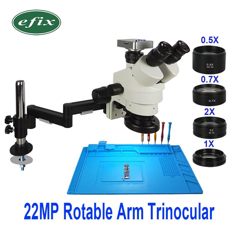22MP 3,5-90X HDMI USB Cámara plegable Universal soporte Trinocular microscopio soldadura estéreo Continus Zoom para reparación de teléfono
