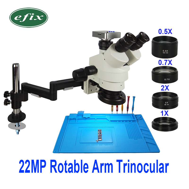 22MP 3.5-90X HDMI USB Camera Foldable Universal Stand Trinocular Microscope Soldering Stereo Continus Zoom For Phone Repair