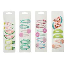 6pcs/set Cute Girls Baby Kids Children Hair Accessories Gift Snap Clips Hairpins headdress headwear J2