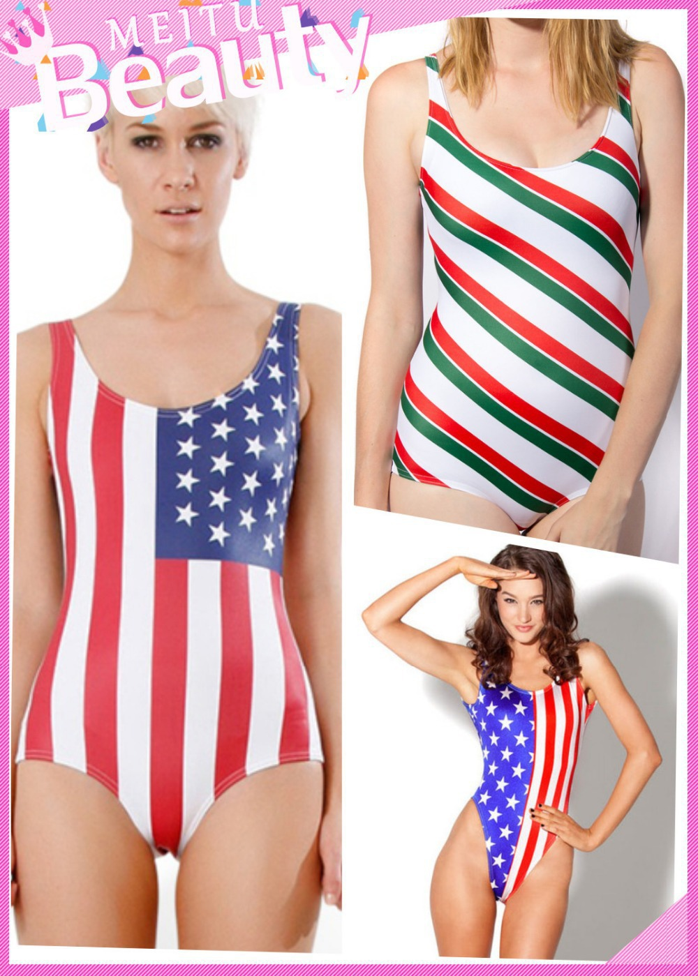 7a401791f14 american flag swimwear Stars Stripes one piece swimsuit Candy Cane Teddy Bathing  Suit LC40810 LC40820 LC40823 Free shippingsexy