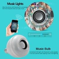 Creative Smart Lamp Wireless 12W E27 LED Rgb Bluetooth Speaker Bulb Light Music Playing RGB Lighting