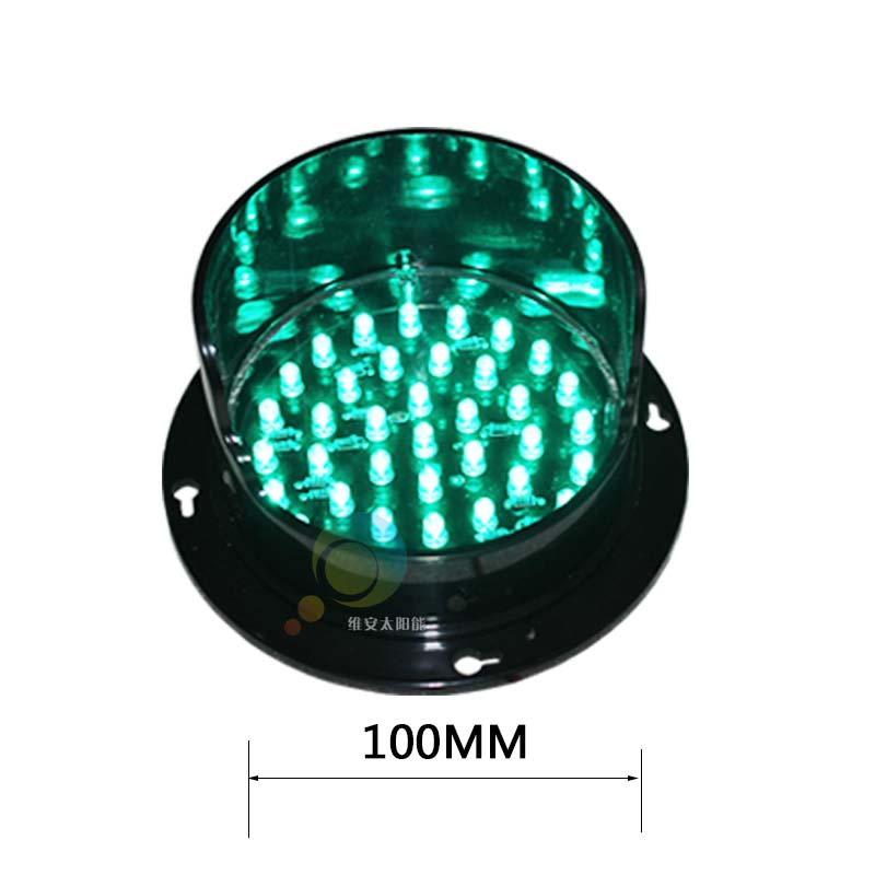 CE RoHS Approved Customized Factory Price Green Led Singal Light 100mm Lamps Traffic Light Parts
