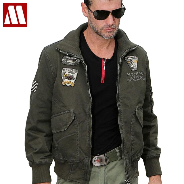 c5bab47cff3 New brand cotton Stylish men aviator jacket M65 combat jacket bomber  jackets 101st Airborne Division Outerwear