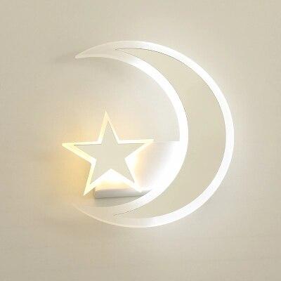 Star moon led wall lamp children's room bed bedroom living room corridor corridor lamp creative star moon wall lamps ZA425650