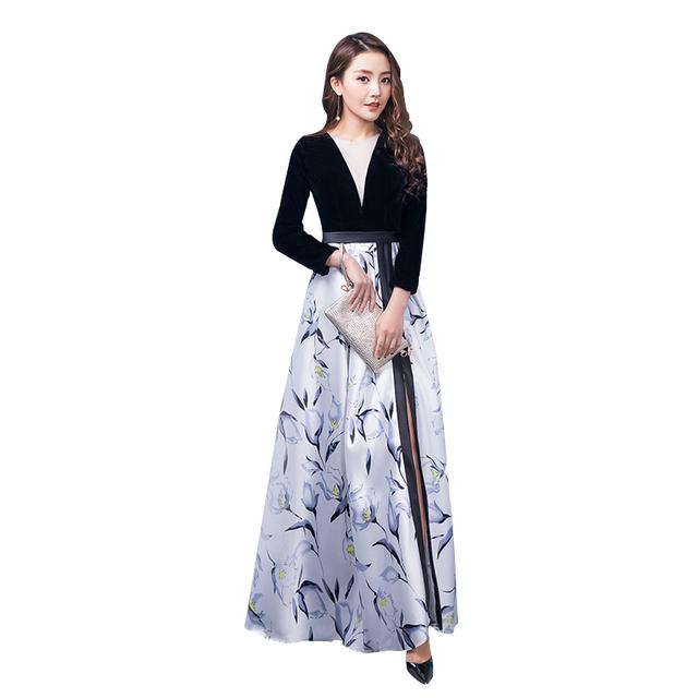 Bridesmaid Dresses 2018 A-Line Long Sleeve Beaded Long Bridesmaid Dress Formal Maid Of Honor