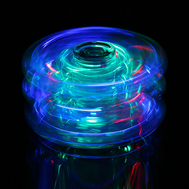 2017 Hot Fidget spinner Glow in the dark shining star toys stickers Gift Hand spinner lights LED party tool crystal spinner