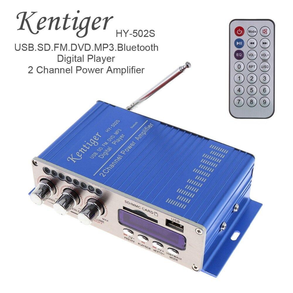 c5bf0bb3b796e HY502S Áudio FM + MP3 Speaker Amplificador de Potência Digital De 2 Canais  de Alta Fidelidade Do Bluetooth Jogador Do Carro com Luz LED para iPod  ...