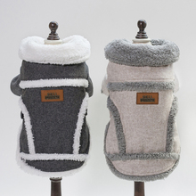 Купить с кэшбэком Dog Clothes For Dog Coats Puppy Cat Apparel Fllece Small Pet Clothing For Dog Winter Warm Jacket Fashion Style Para Chien