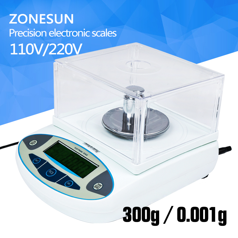 ZONESUN Analytical Balance Lab laboratory Digital Scale 300 x 0.001 g 1 mg Precision Balances balanca precisao One Year Warranty