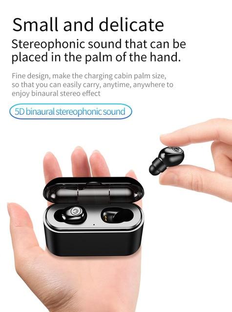 Bluetooth 5.0 Headset TWS Wireless Earphones Mini Earbuds Stereo Headphones wireless sports bass bluetooth earphone with mic 5