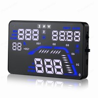 With GPS 5.5 inch HD Auto Universal HUD display Q7 Overspeed Warning Windshield Projector Multi colorcar head up display