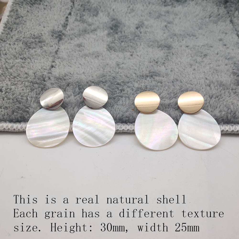 Fashion Wedding Jewelry Hanging Natural Shell Pearl Geometric Earrings High Quality Natural Shell Pendant Earrings for women P40 37