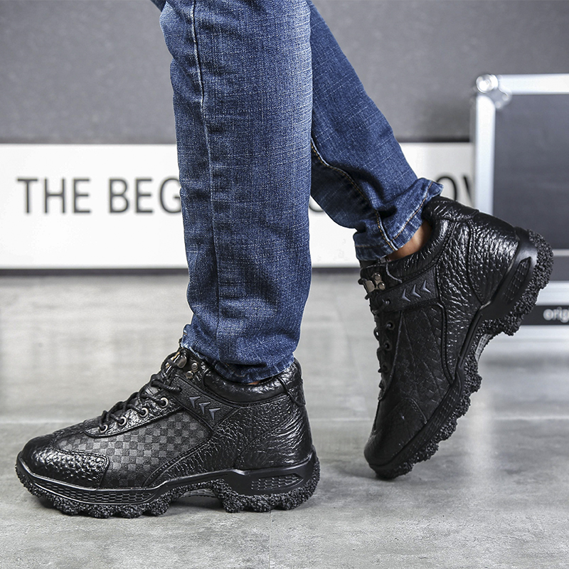 No Zapatillas Hombre black Confortáveis Zapatos De Sapatos Respirável Homens Plush brown Plush Ao Dos Ar Fur Livre Moda Casuais Flats Formadores Genuíno Plush Couro q6AarTq