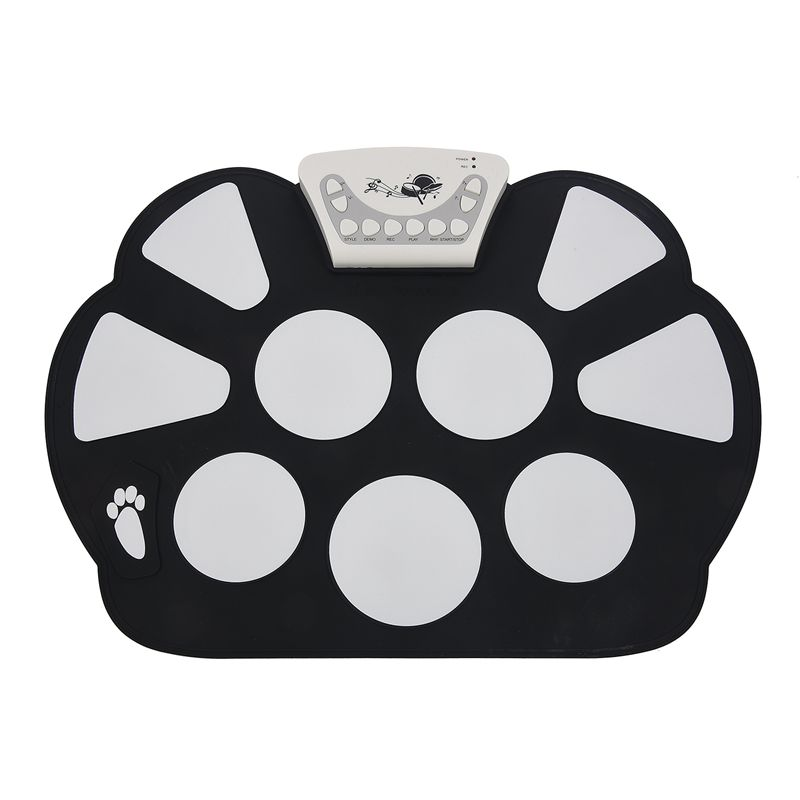 W758 Digital Portable 9 Pad Musical Instrument Electronic Roll-up Drum Kit,Hand Roll Children Electronic Drum Jazz DrumPromotion