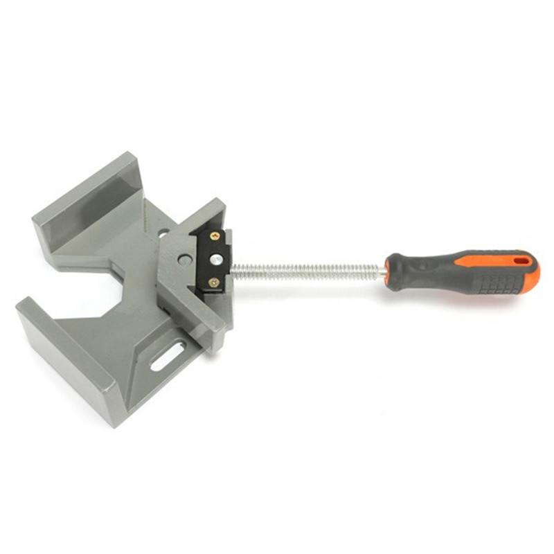 MTGATHER Aluminum Alloy Die-casting 90 Degrees Corner Clamp Right Angle Woodworking Vice Wood / Metal Weld / Welding Best ninth world new single handlealuminum 90 degree right angle clamp angle clamp woodworking frame clip right angle folder tool