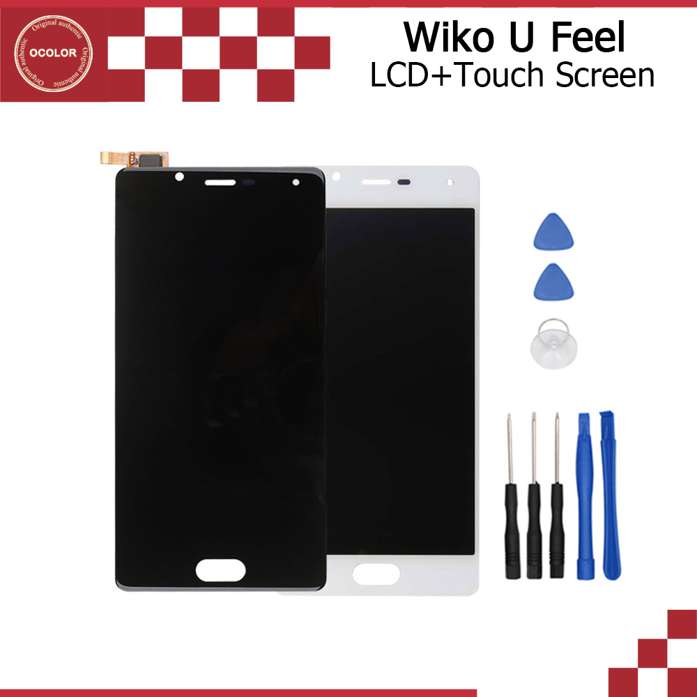 ocolor for wiko u feel original lcd display and touch. Black Bedroom Furniture Sets. Home Design Ideas