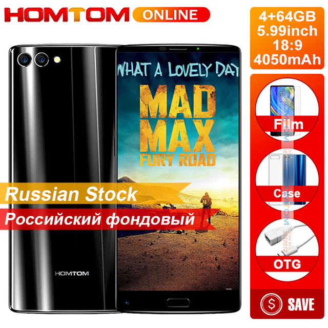 HOMTOM S9 Plus 5.99 Inch 18:9 bezel-less Display Smartphone 16MP Dual Camera 4050mAh Front Fingerprint 4GB+64GB Octa Core Phone