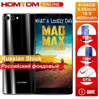 HOMTOM S9 Plus 5.99 Inch 18:9 bezel less Display Smartphone 16MP Dual Camera 4050mAh Front Fingerprint 4GB+64GB Octa Core Phone
