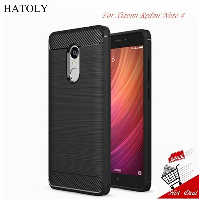 HATOLY Case Xiaomi Redmi Note 4 Cover Shockproof Rubber & TPU Case For Xiaomi Redmi Note 4 Case Redmi Note 4 Pro 4x Phone Funda>