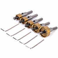 New Arrival 5pcs HSS Hole Saw Drill Bits Set High Quality Stainless Steel Metal Alloy Cutter